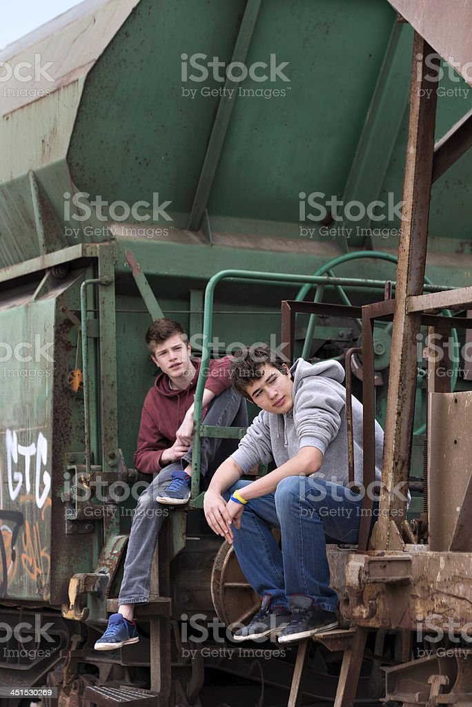 Railroad car royalty-free stock photo
