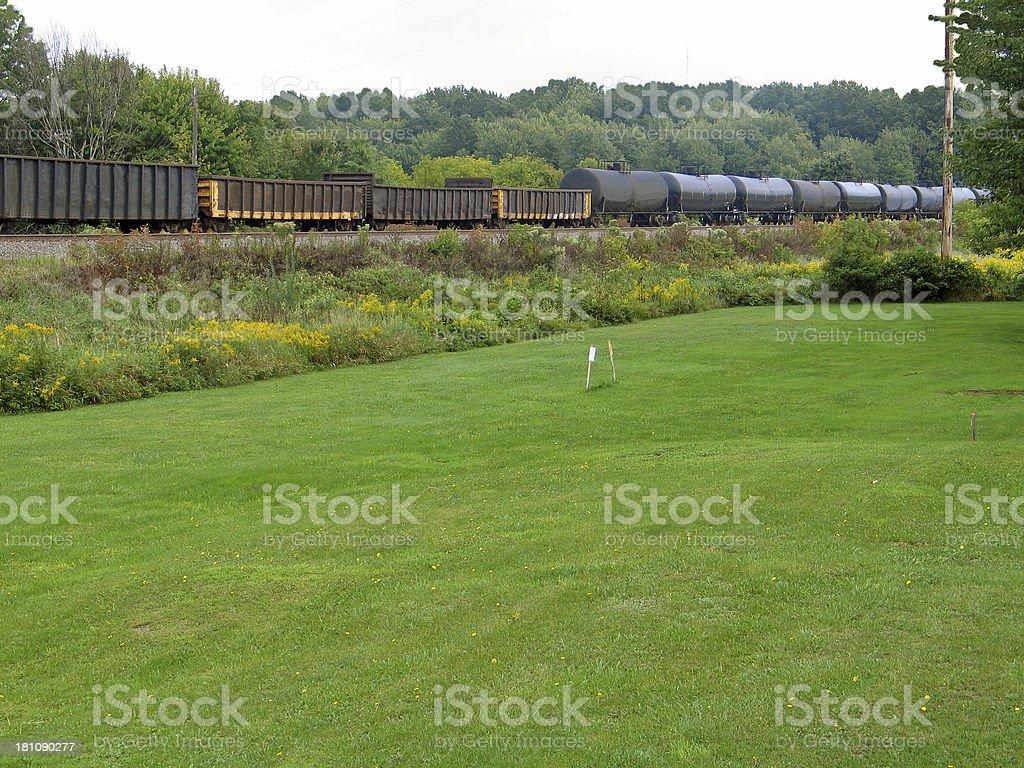 Railroad Cars royalty-free stock photo