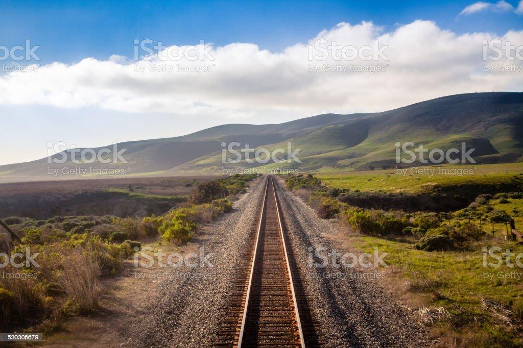 Railroad, Central California Coast stock photo