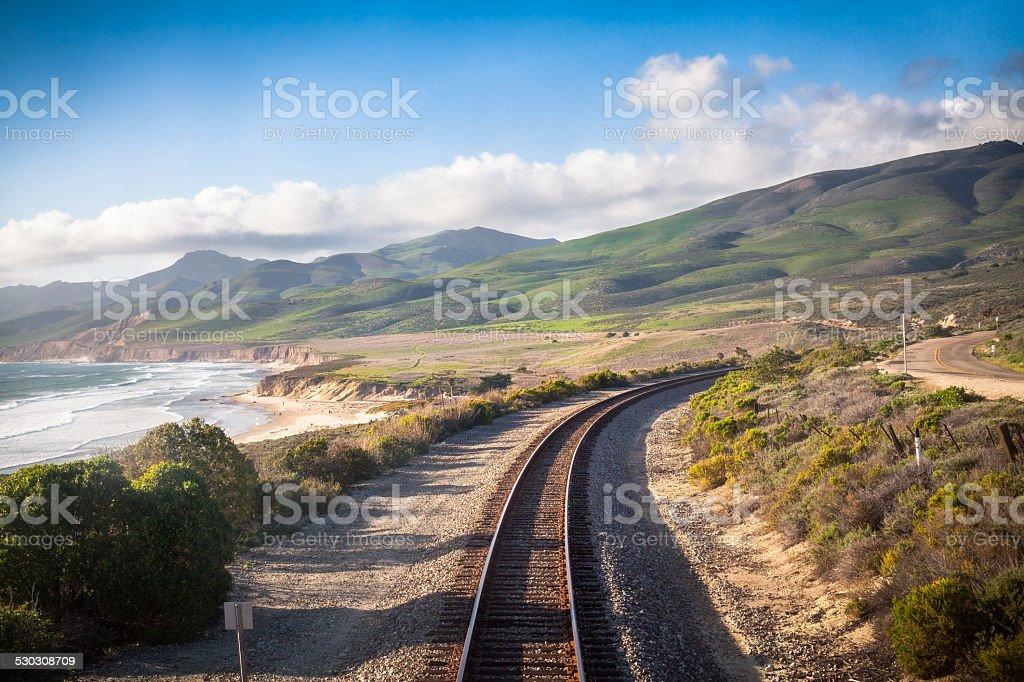 Railroad, Central California Coast royalty-free stock photo