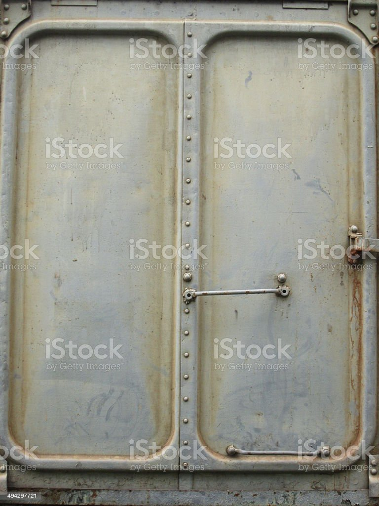 railroad container door royalty-free stock photo