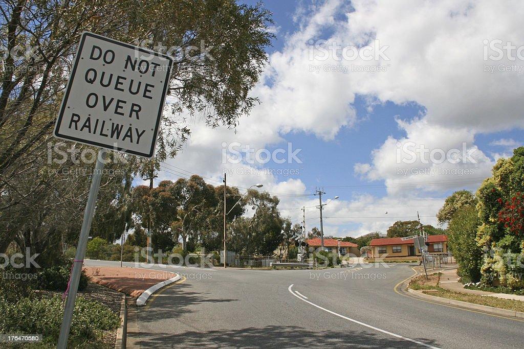 Railroad crossing, Australia royalty-free stock photo