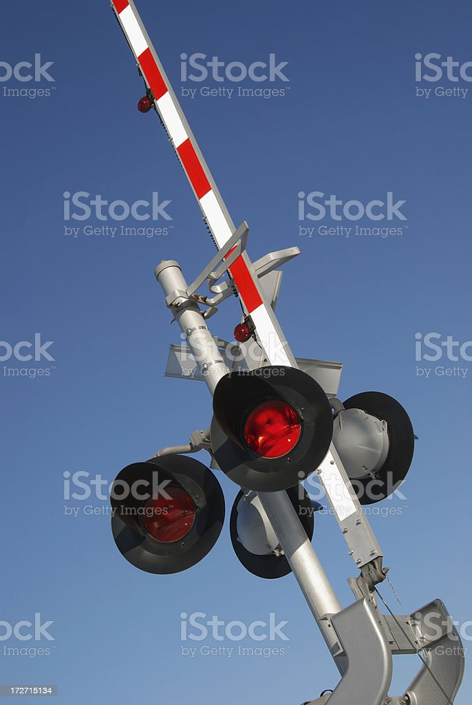 railroad crossing light royalty-free stock photo