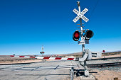 Railroad Crossing on Cutt of Rd Death Valley California USA