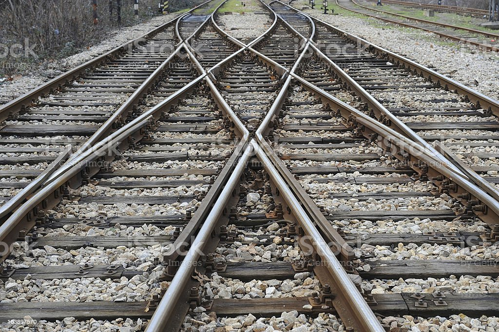 railroad crossing royalty-free stock photo