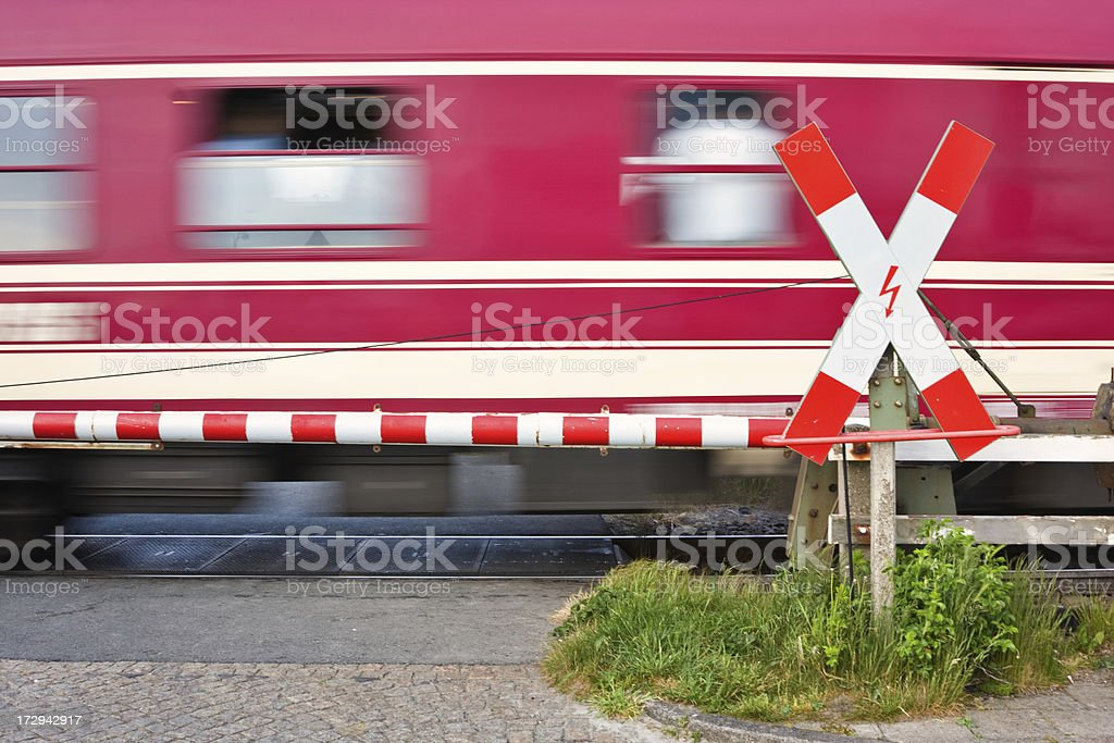 Railroad Crossing ( Andreaskreuz ) royalty-free stock photo