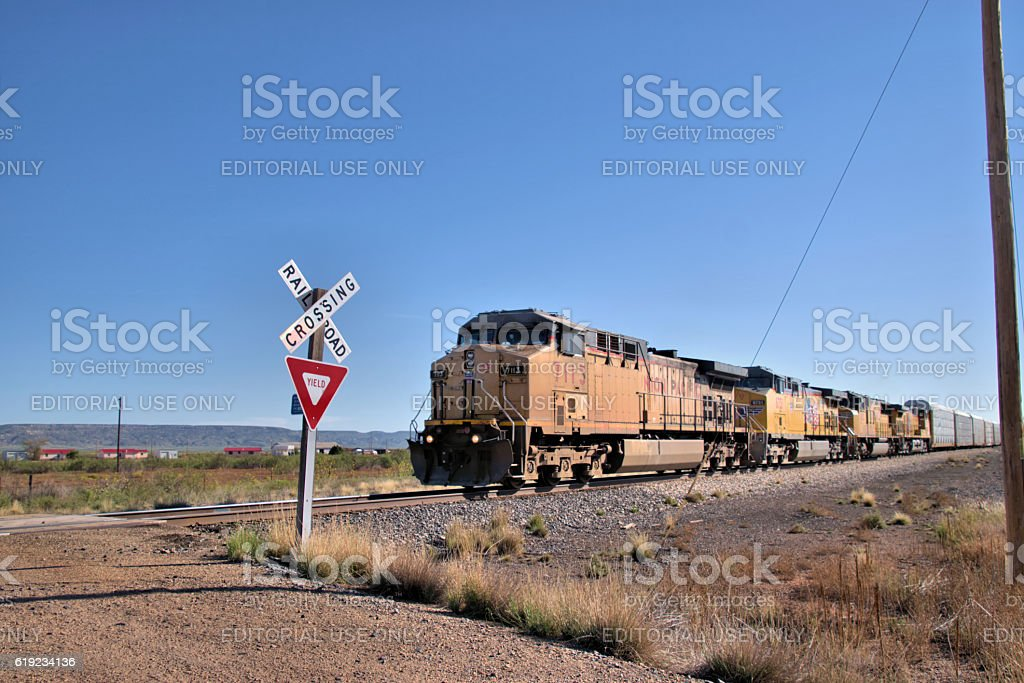 Railroad Crossing stock photo