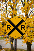 Railroad crossing sign in disguise.