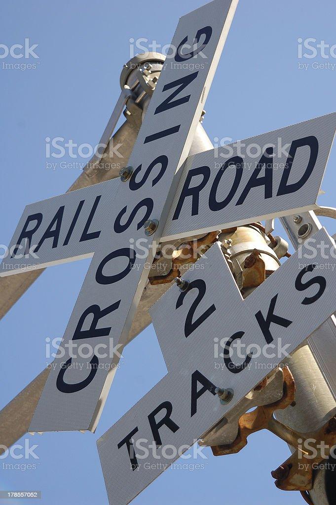 Señal de cruce de tren foto de stock libre de derechos