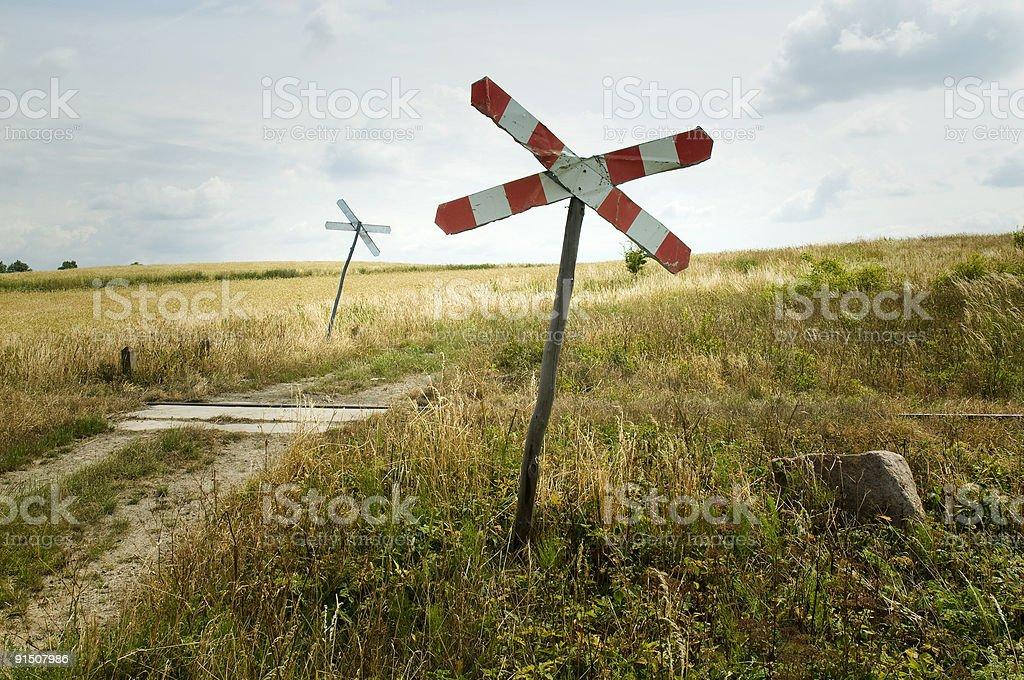 Железная дорога Знак пересечения дороги Стоковые фото Стоковая фотография