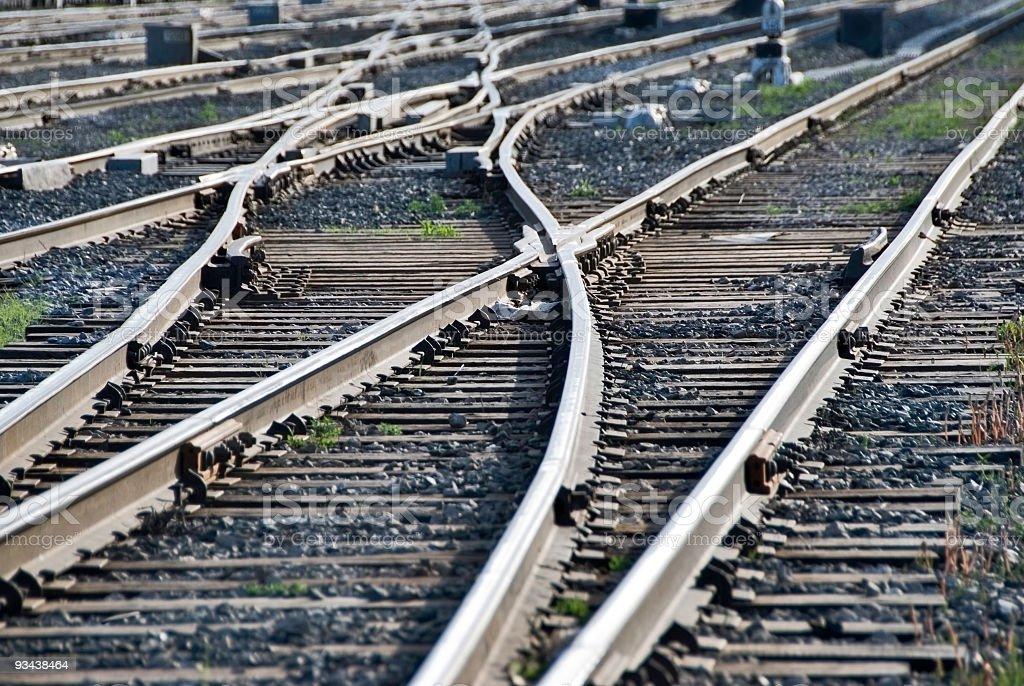 Railroad Crossings royalty-free stock photo