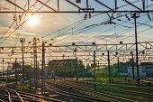 Railroad during Sunrise