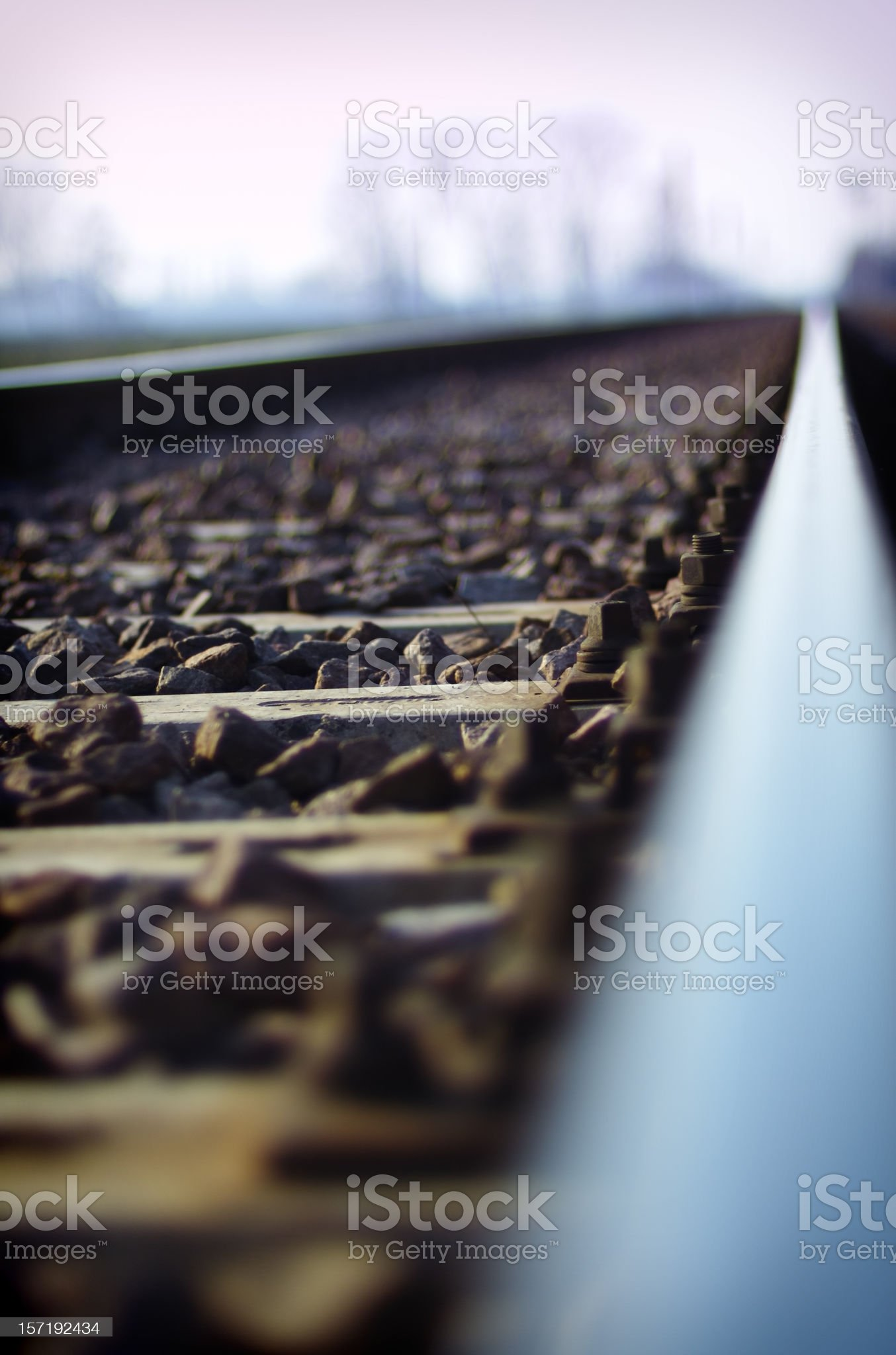Railroad in the country royalty-free stock photo