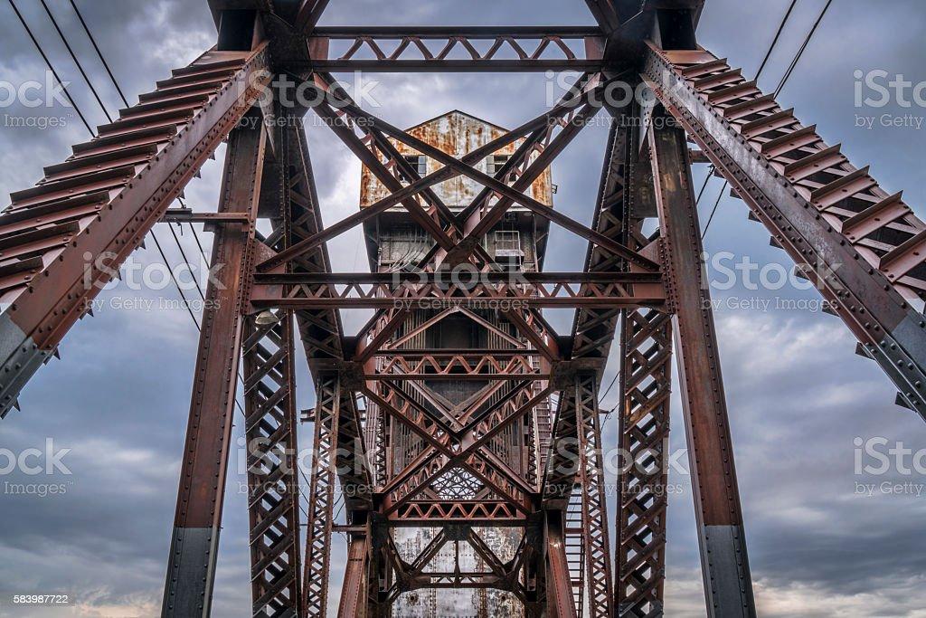 Railroad Katy Bridge  at Boonville stock photo