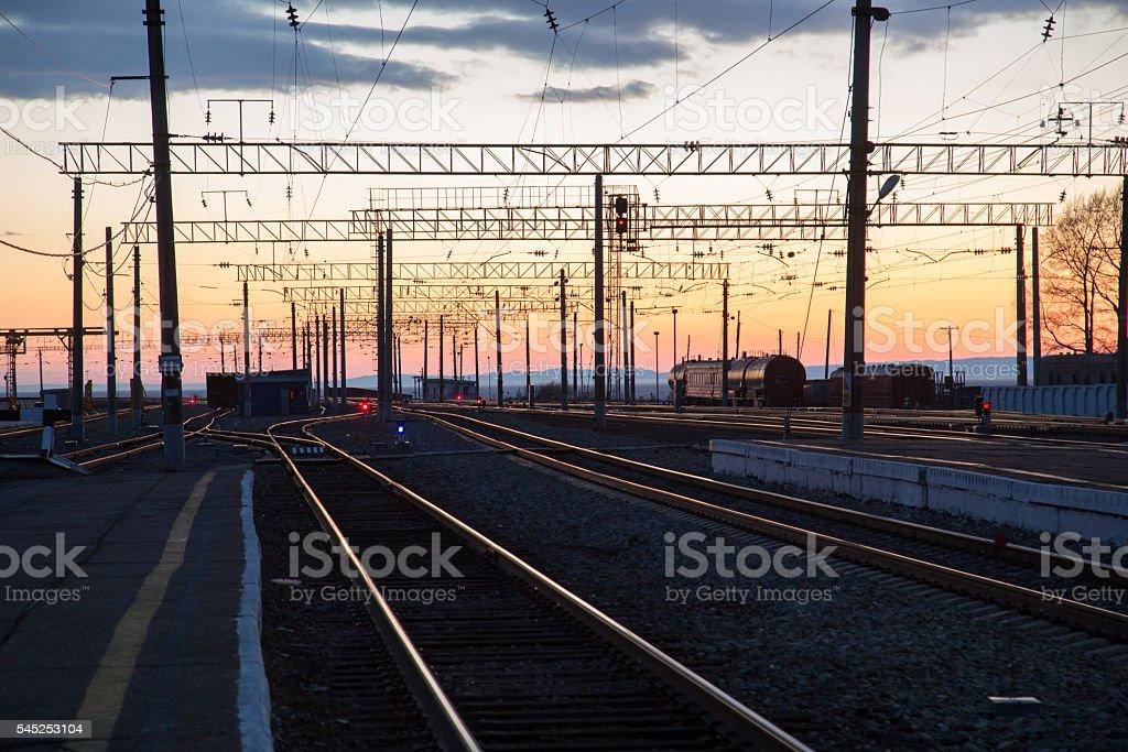railroad landscape stock photo