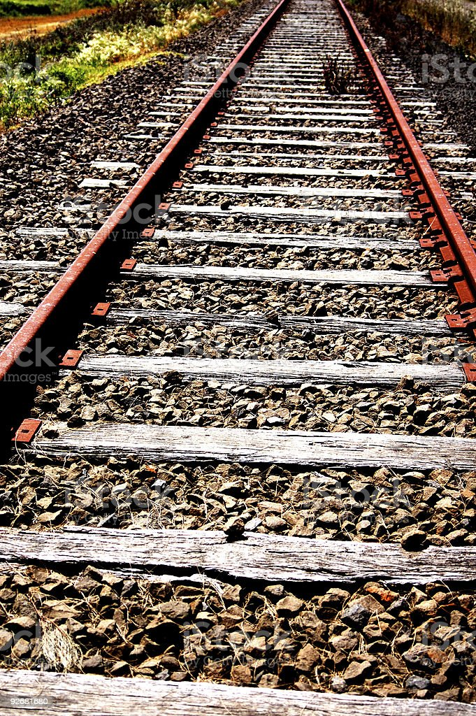 railroad lines royalty-free stock photo