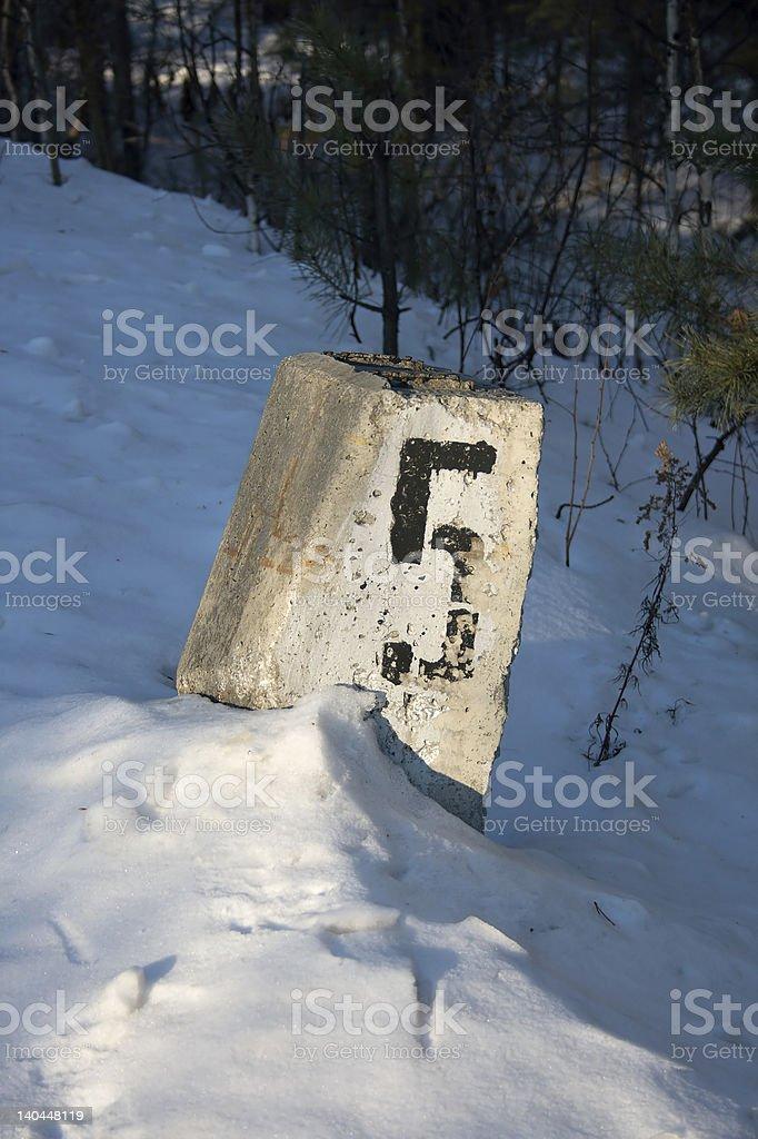 Railroad kilómetros/1 milla de correos#5 foto de stock libre de derechos