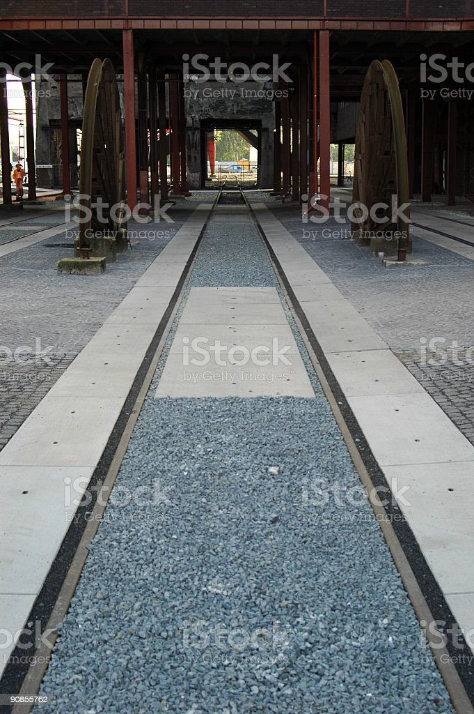 Railroad of a german cokery stock photo
