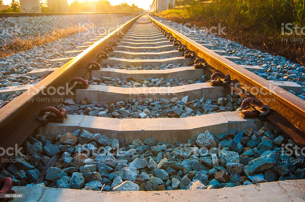 railroad. stock photo