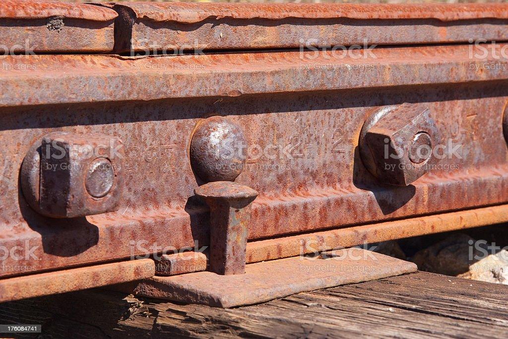 Railroad Rail Close Up royalty-free stock photo