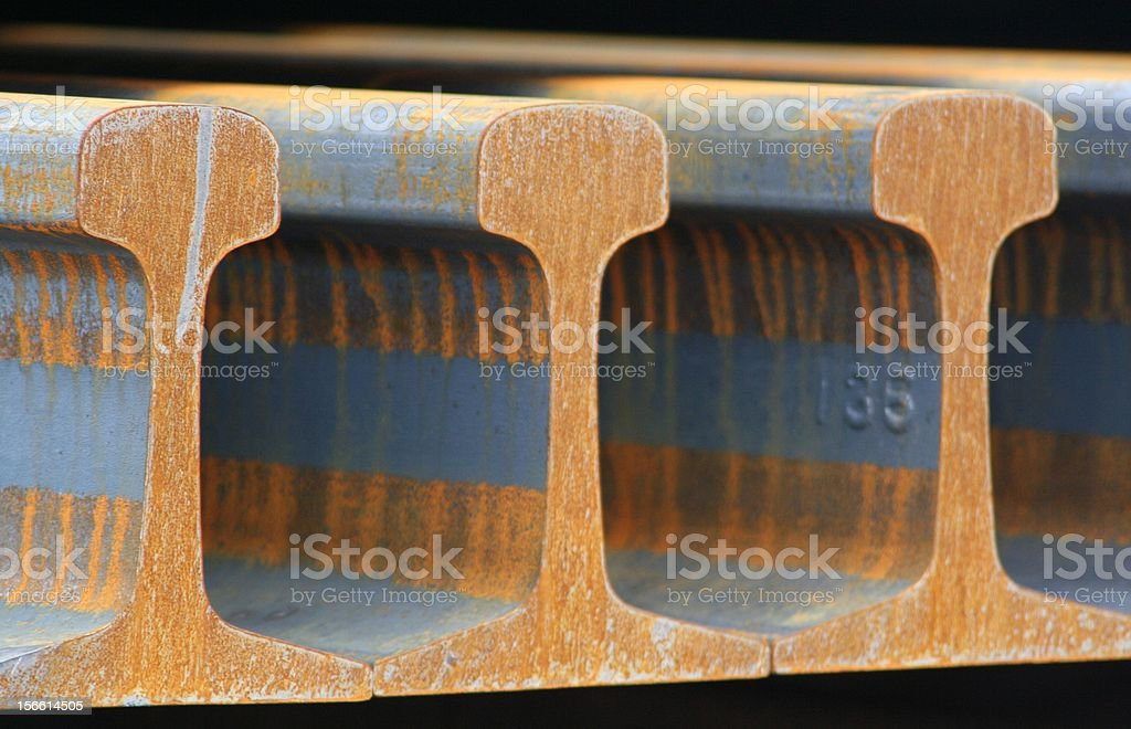 Railroad Rails royalty-free stock photo