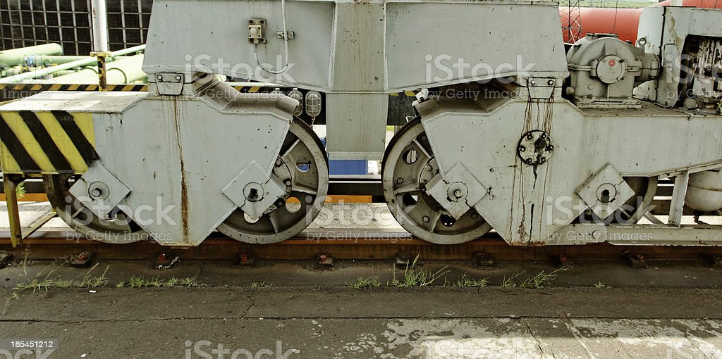 railroad rolling heavy stand royalty-free stock photo
