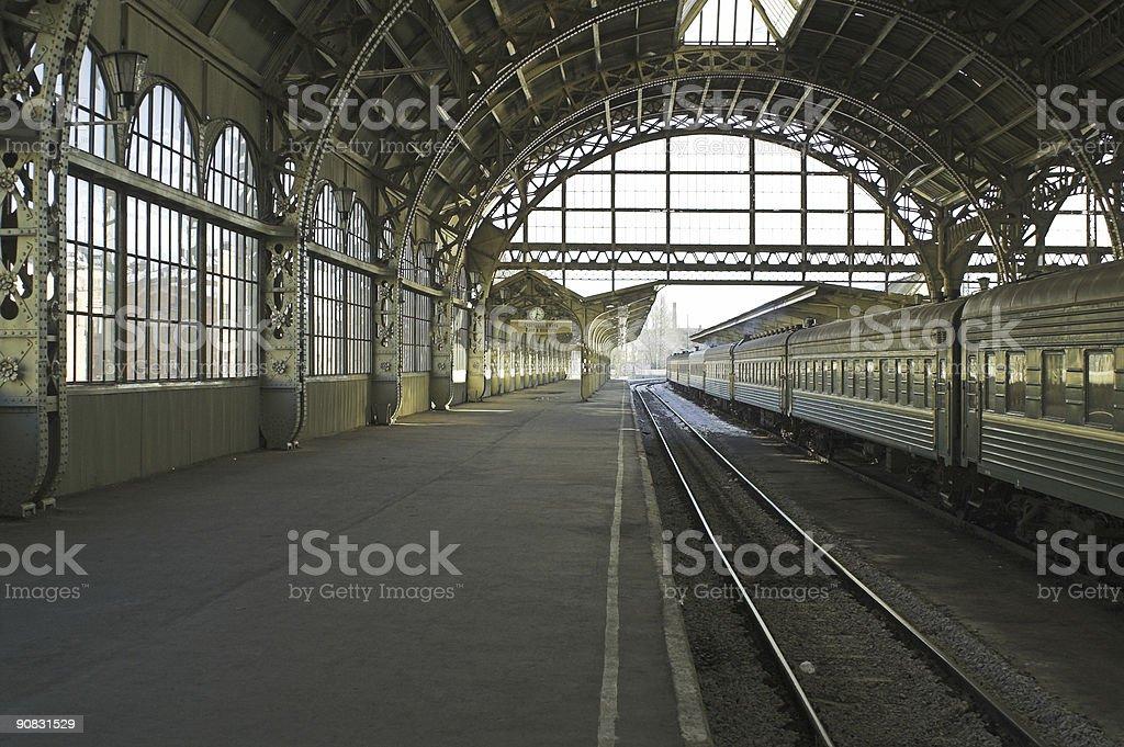 Railroad station - 3 royalty-free stock photo