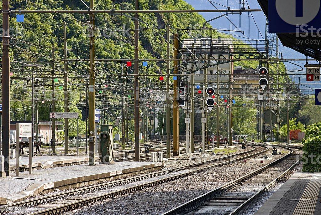 Railroad Station, Italy stock photo