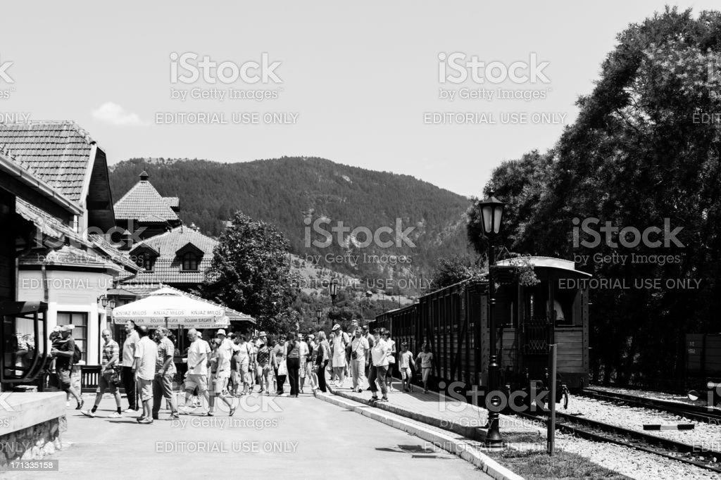 Railroad Station Mokra Gora stock photo
