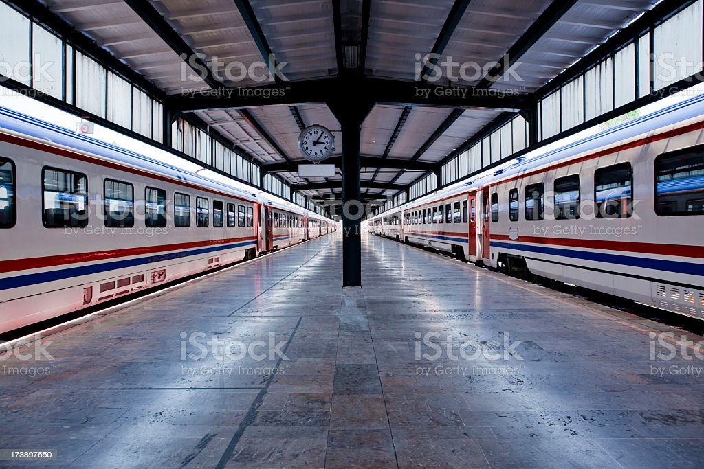 Railroad Station stock photo
