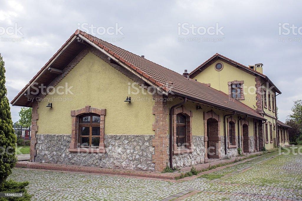 Railroad Station royalty-free stock photo