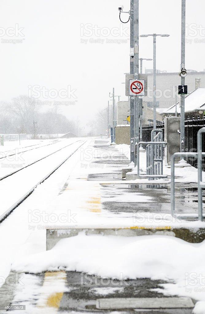 Railroad Station Platform stock photo