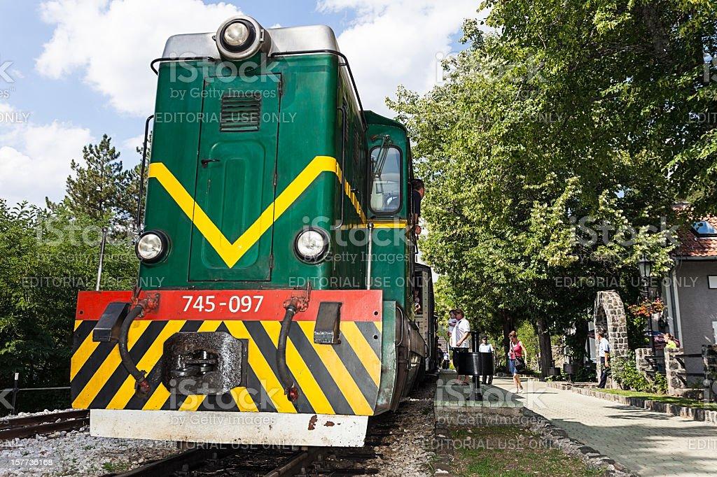 Railroad Station Sargan - Mokra Gora stock photo
