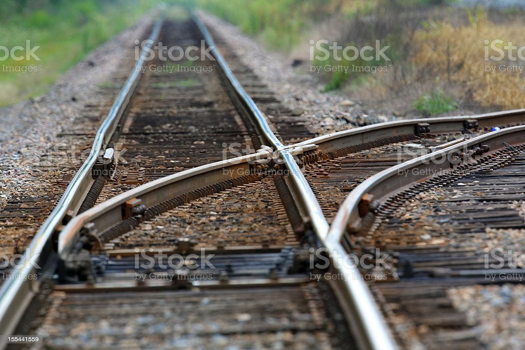Railroad Switch royalty-free stock photo