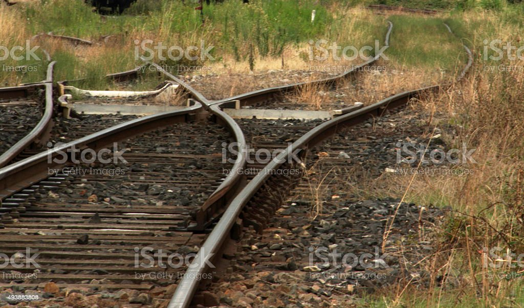 Railroad swith stock photo