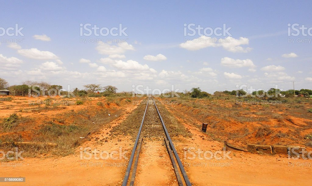 Railroad to Mombasa stock photo