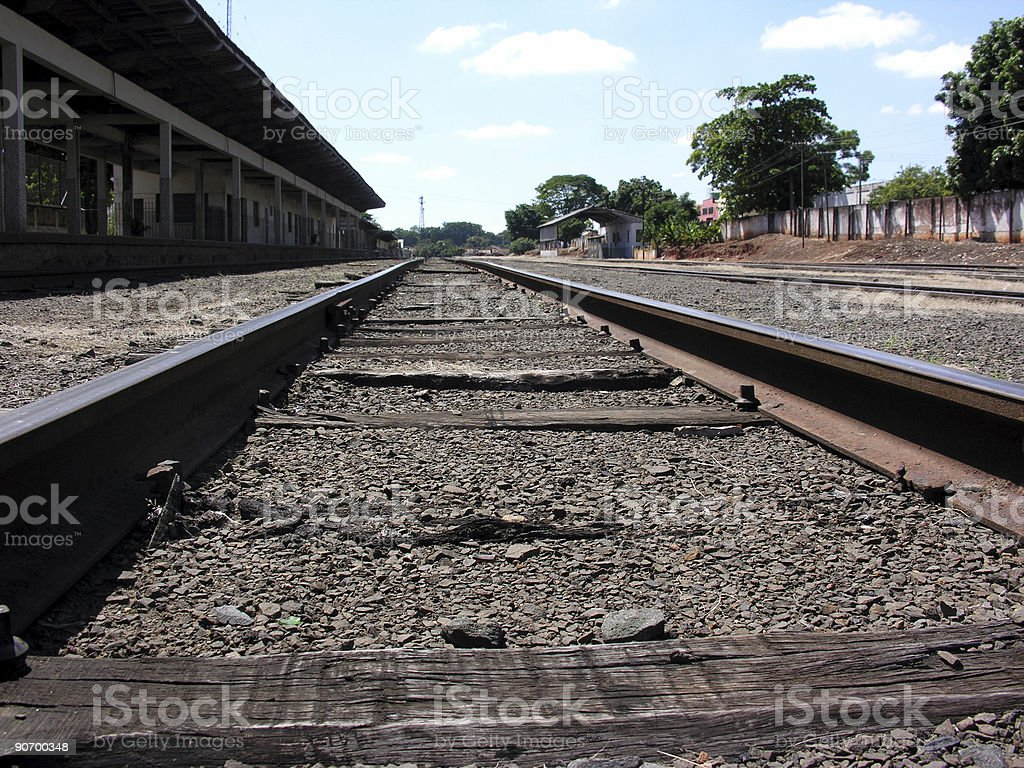 Railroad track 5 royalty-free stock photo