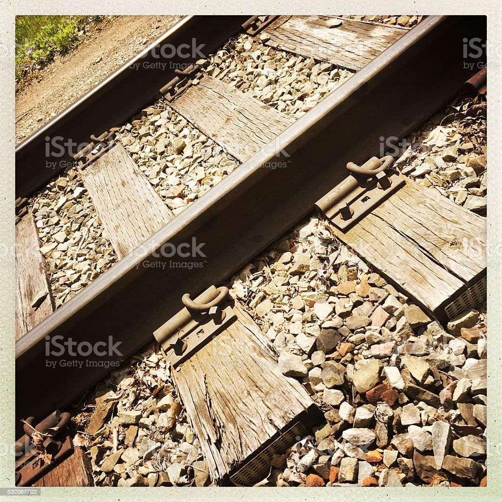 Railroad Track Abstract stock photo