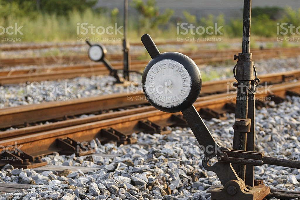 Railroad track control royalty-free stock photo