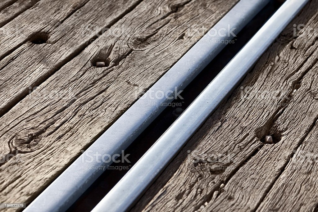 Railroad Track Detail stock photo