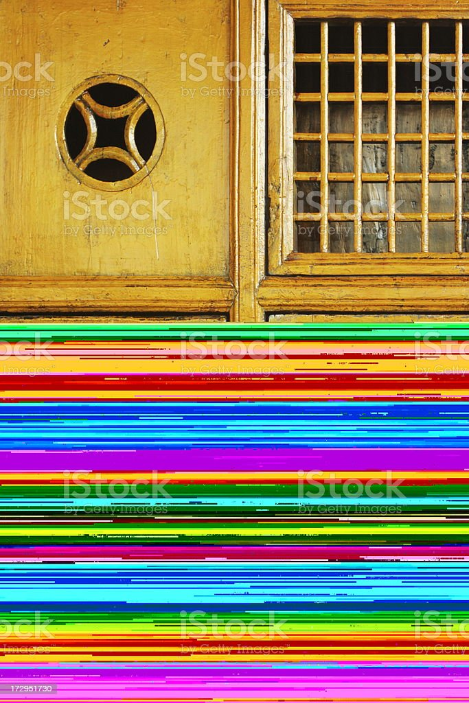 Railroad Track Loose Rail Spikes royalty-free stock photo