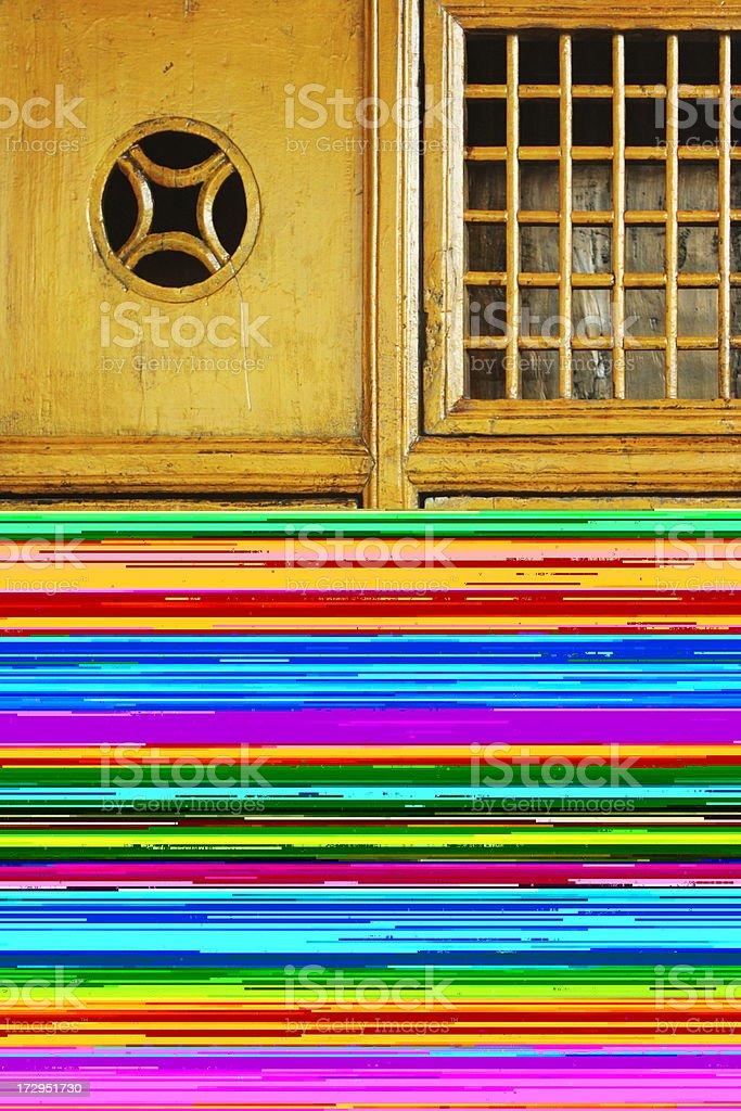 Railroad Track Loose Rail Spikes stock photo