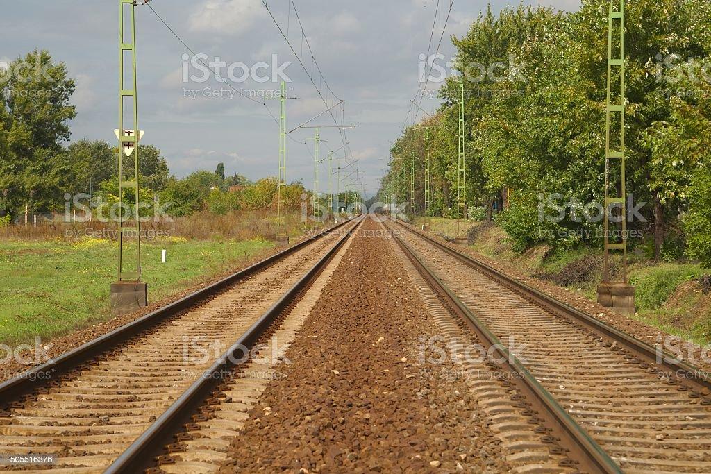 Railroad Track Pair stock photo