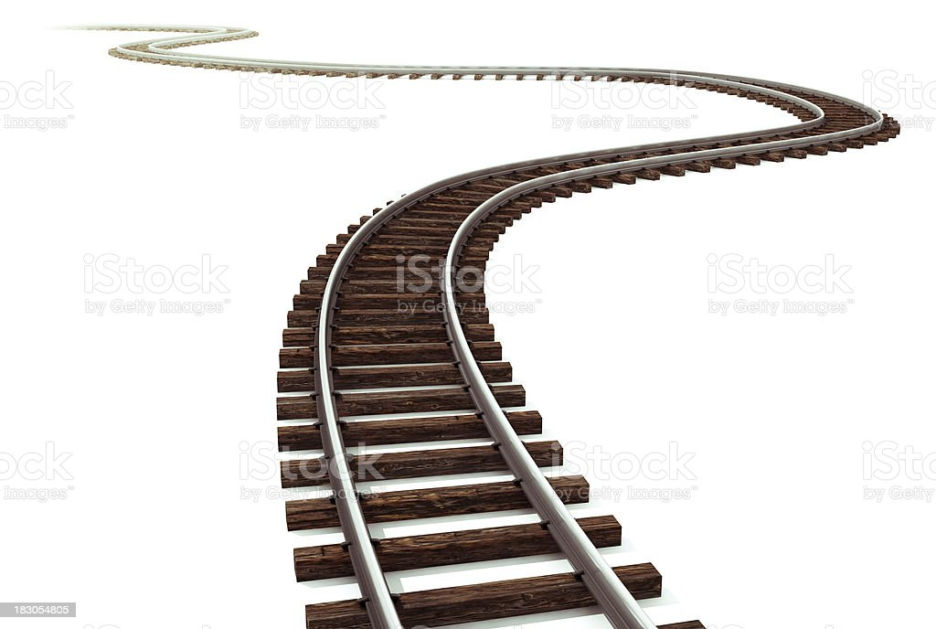 Railroad track stock photo