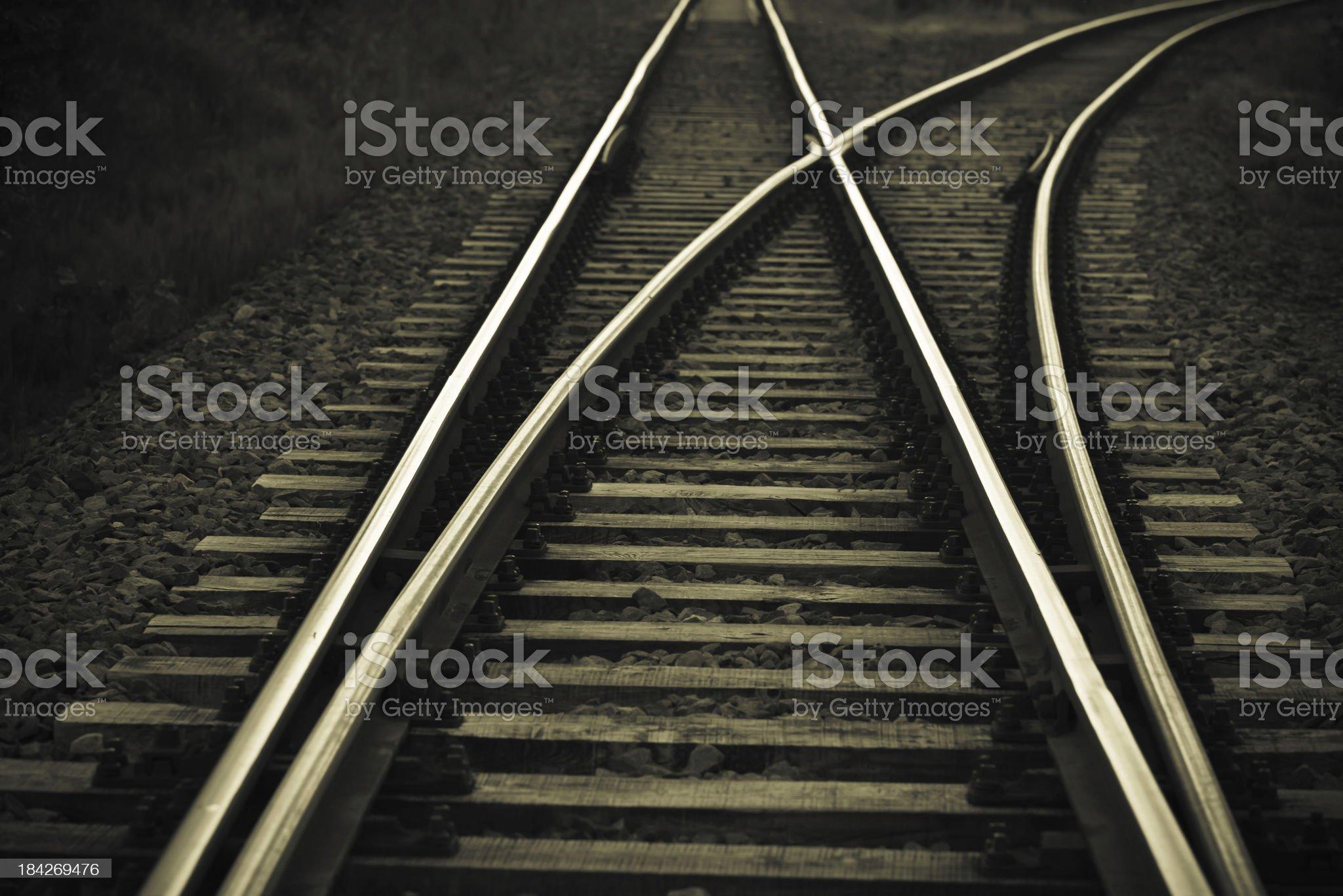 Railroad track royalty-free stock photo
