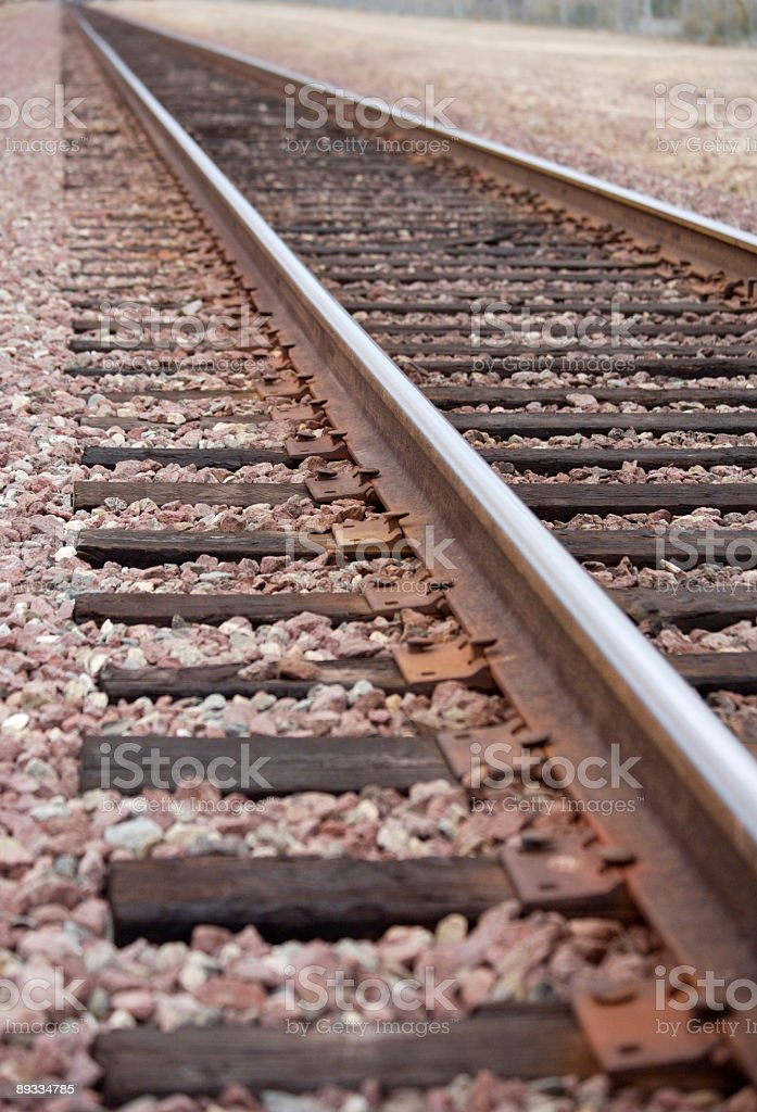 Railroad track royalty-free stock photo