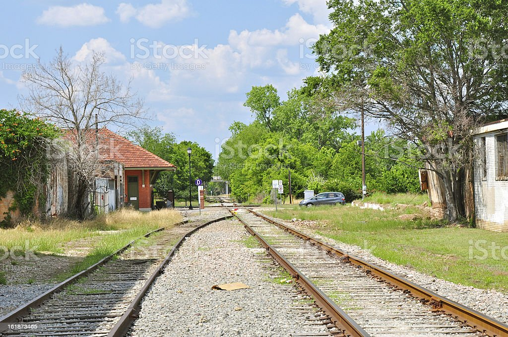 Railroad Tracks in Tyler Texas royalty-free stock photo
