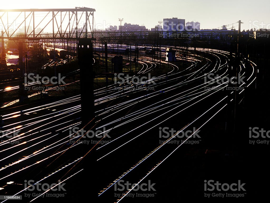 Railroad tracks. stock photo
