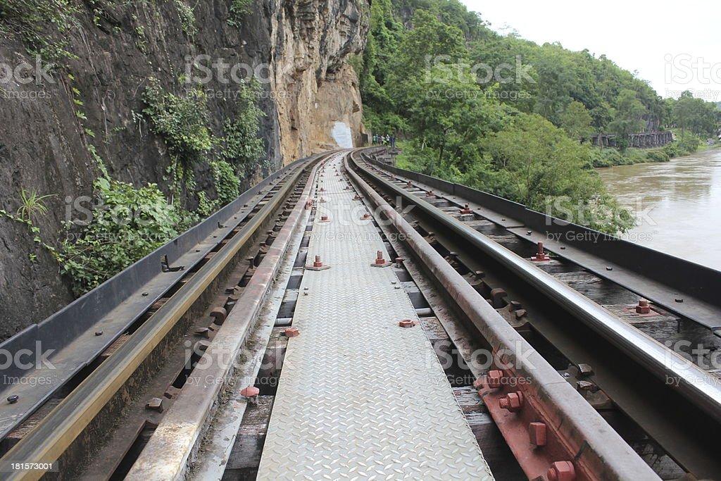 railroad tracks royalty-free stock photo