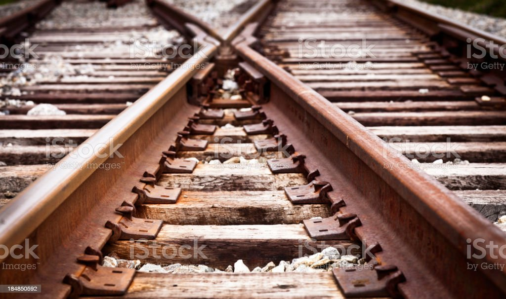 Railroad Tracks royalty-free stock photo